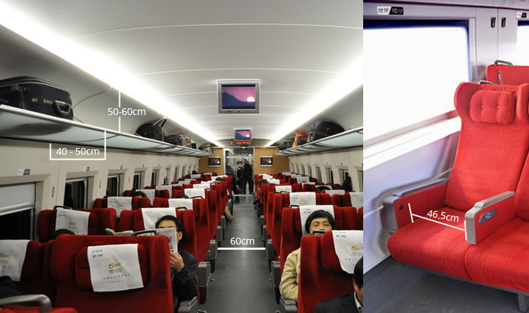 first seats on high speed trains or bullet trains