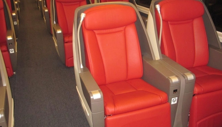 superior seat on bullet or high speed train in china